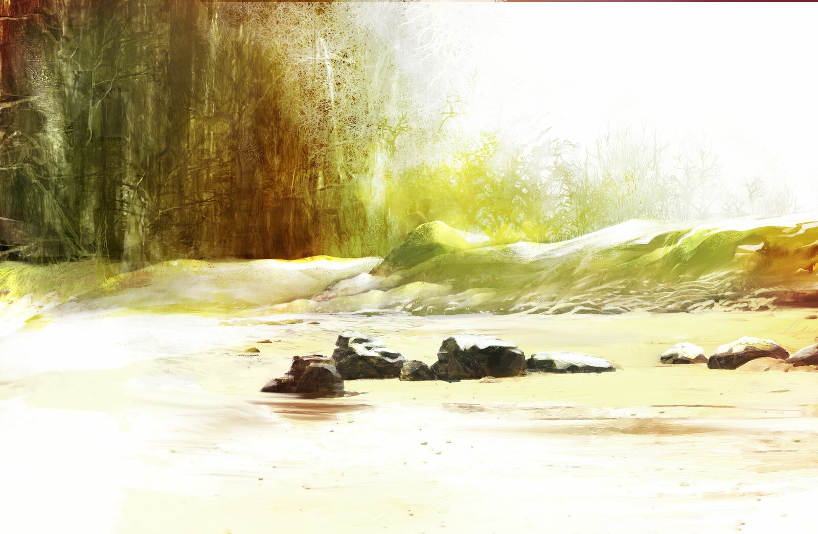 The beach - Environment sketch