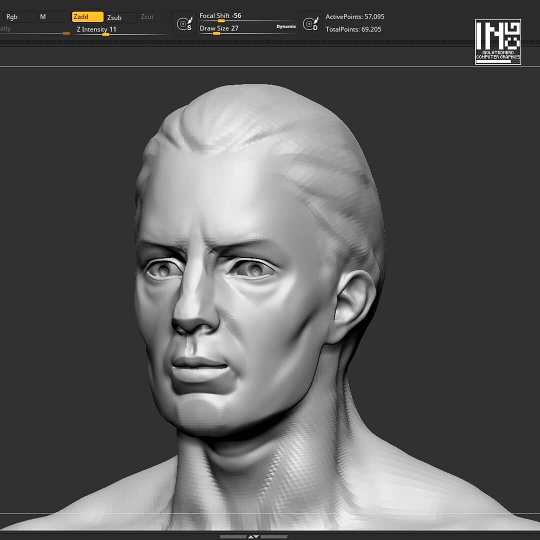 Base head mesh from Zbrush