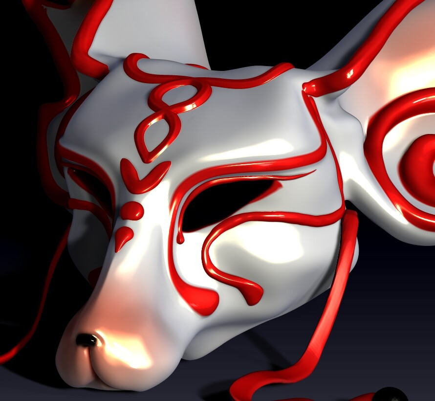 Kabuki Nine-Tails Mask. Legend claims that the kitsune are noted for having as many as nine tails. ... When a kitsune gains its ninth tail, its fur becomes white or gold. These kyūbi no kitsune (九尾の狐, nine-tailed foxes) gain the abilit