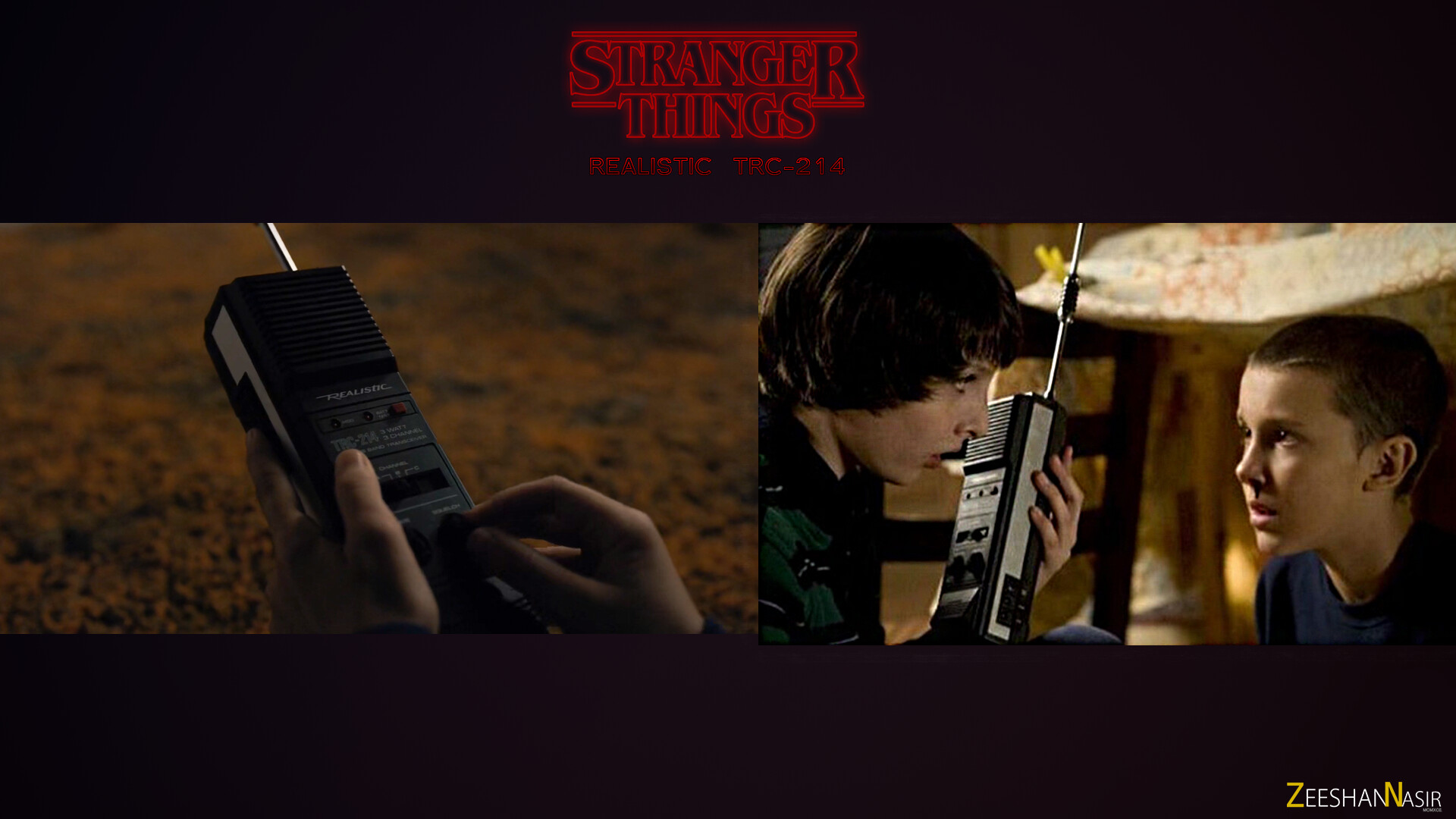 Screens from Stranger Things.