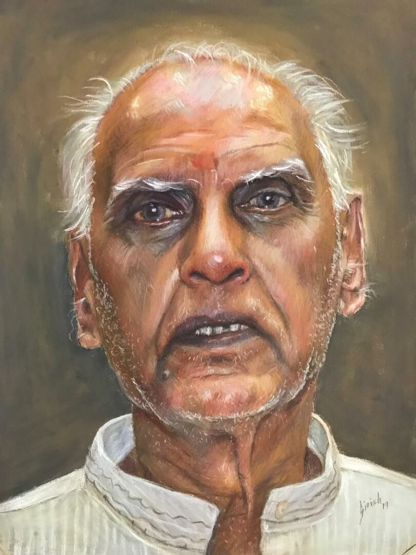 Granddad - Pastel Pencils on Paper