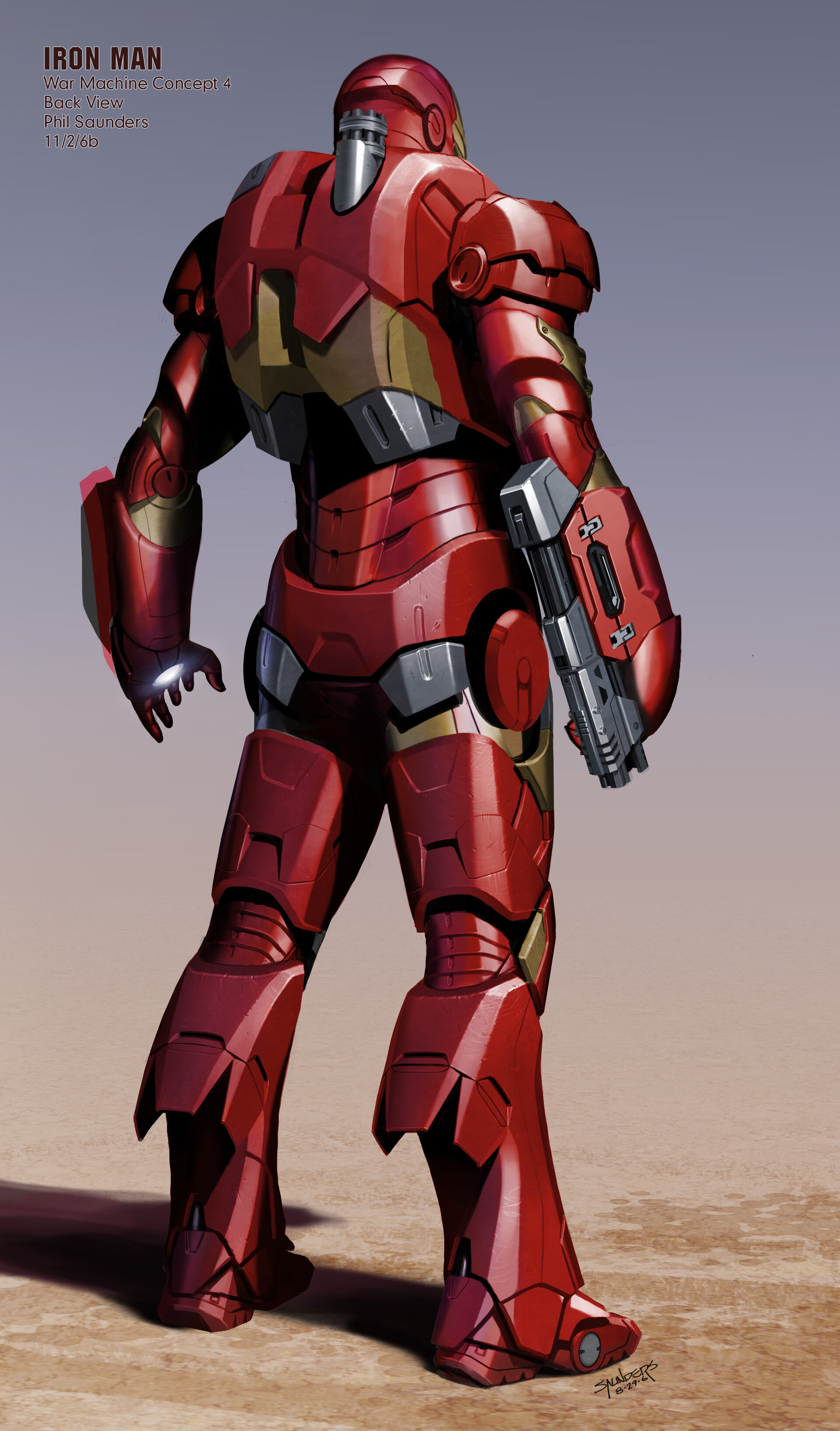 ArtStation - Iron Man (2007) - Early War Machine concepts