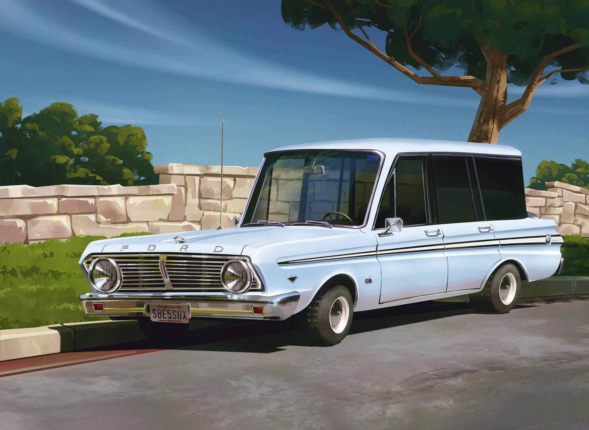 Josip Lovrinovic - 2D Artist - 1965 Ford Falcon V8 Stationwagon