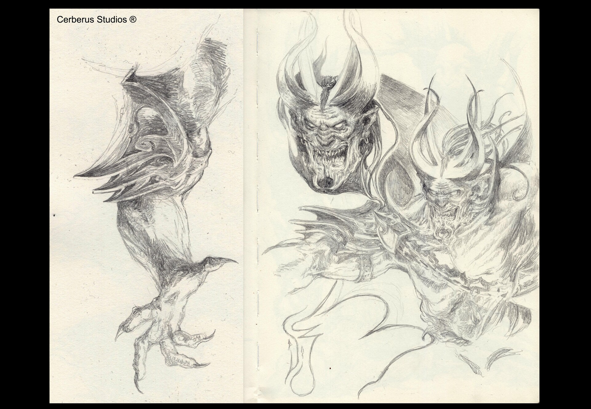 Daniel zrom danielzrom cerberusstudio titans fight sketches
