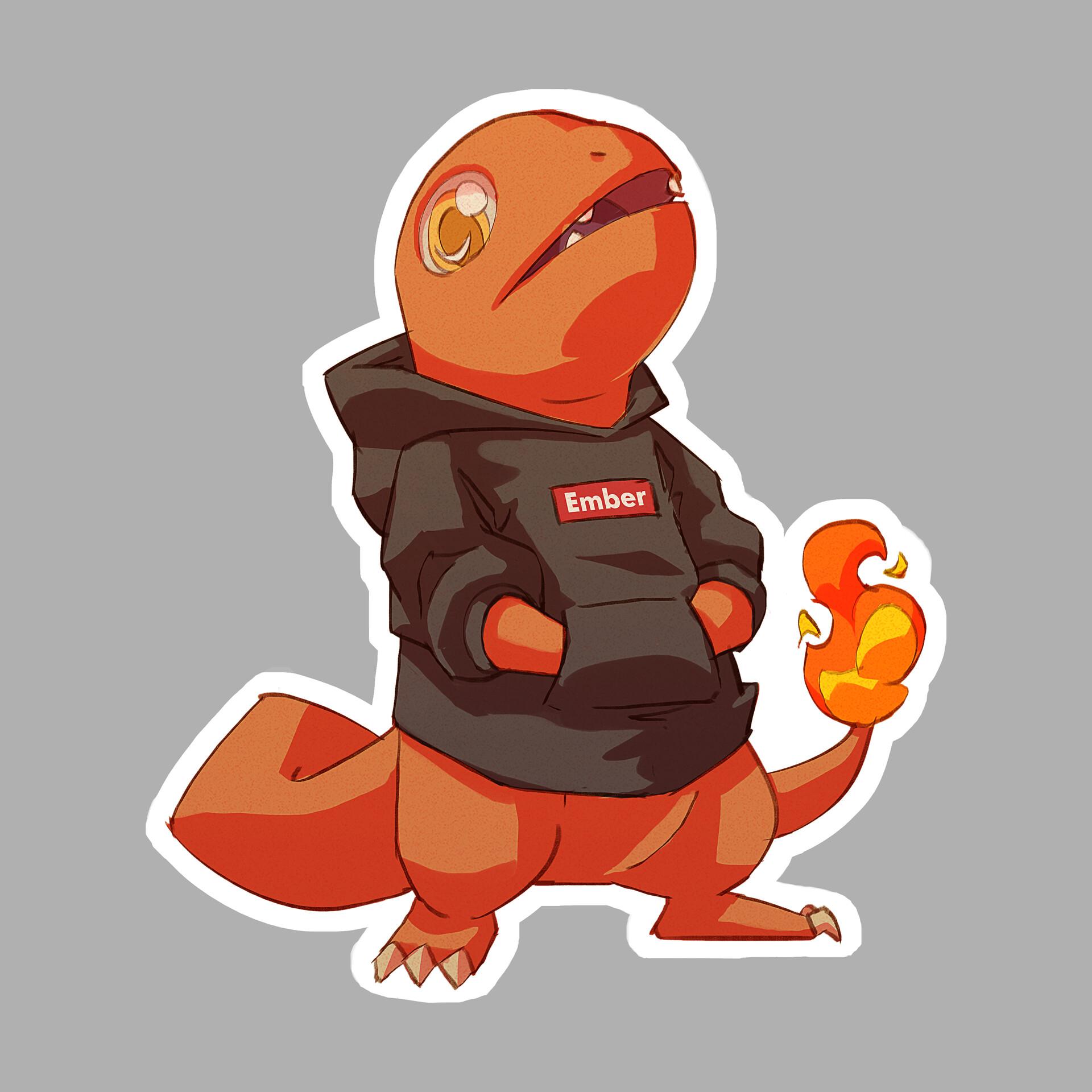 Michelle lo sticker pokemon x charmander01