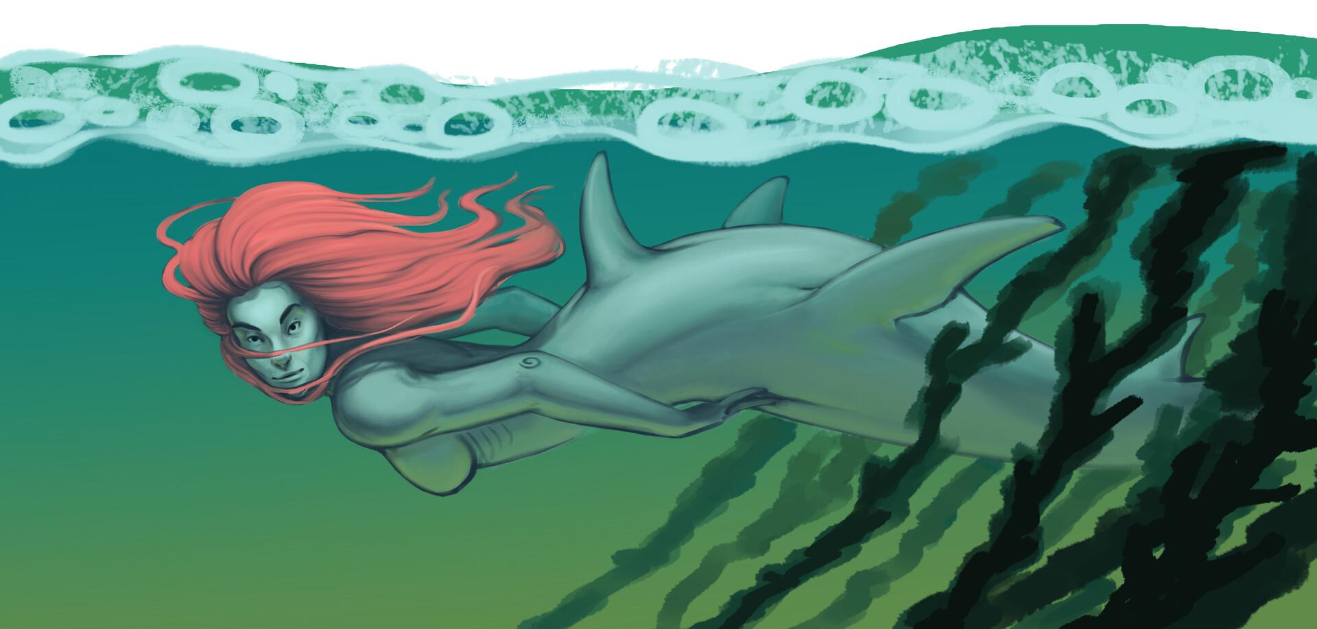 Meagen ruttan mermay shark 03