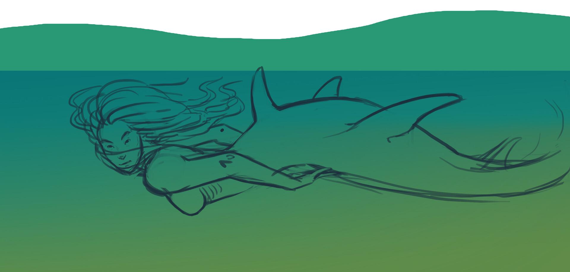 Meagen ruttan mermay shark 001