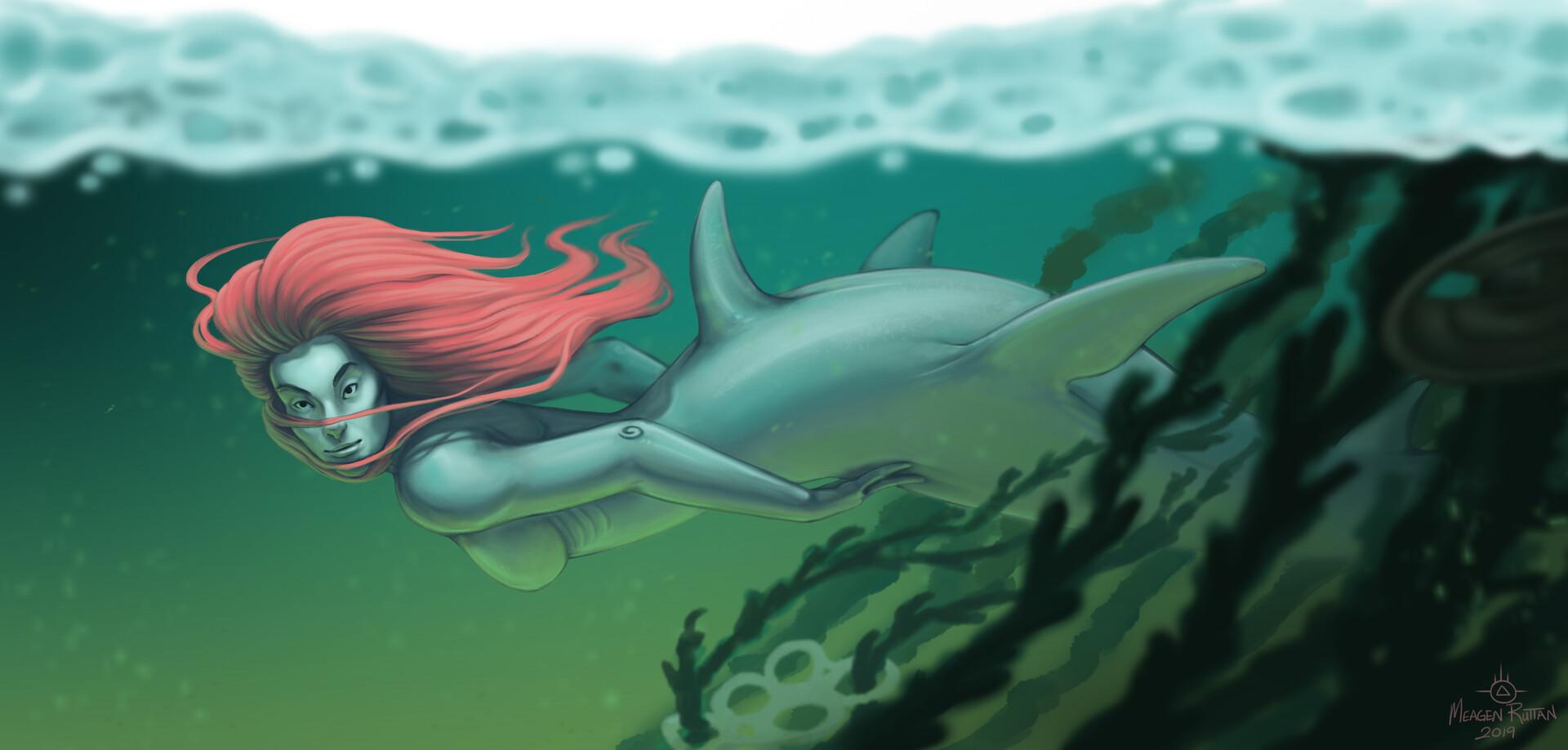 Meagen ruttan mermay shark 05