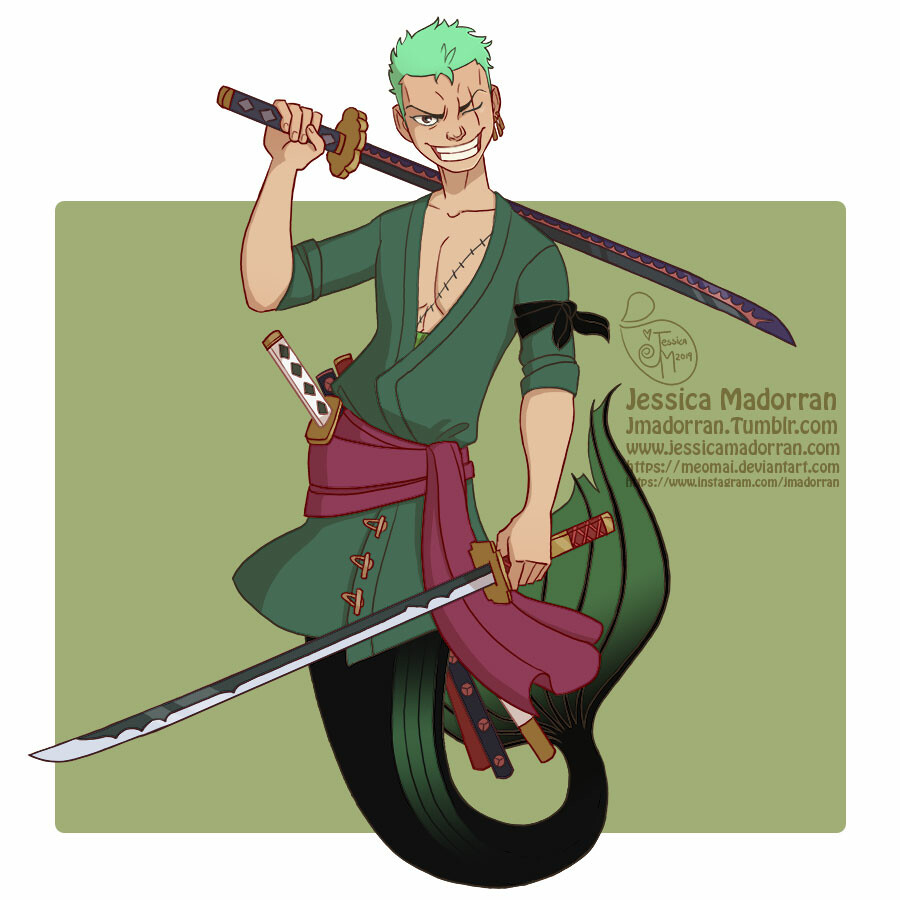 Jessica madorran mermay 2019 one piece zoro artstation