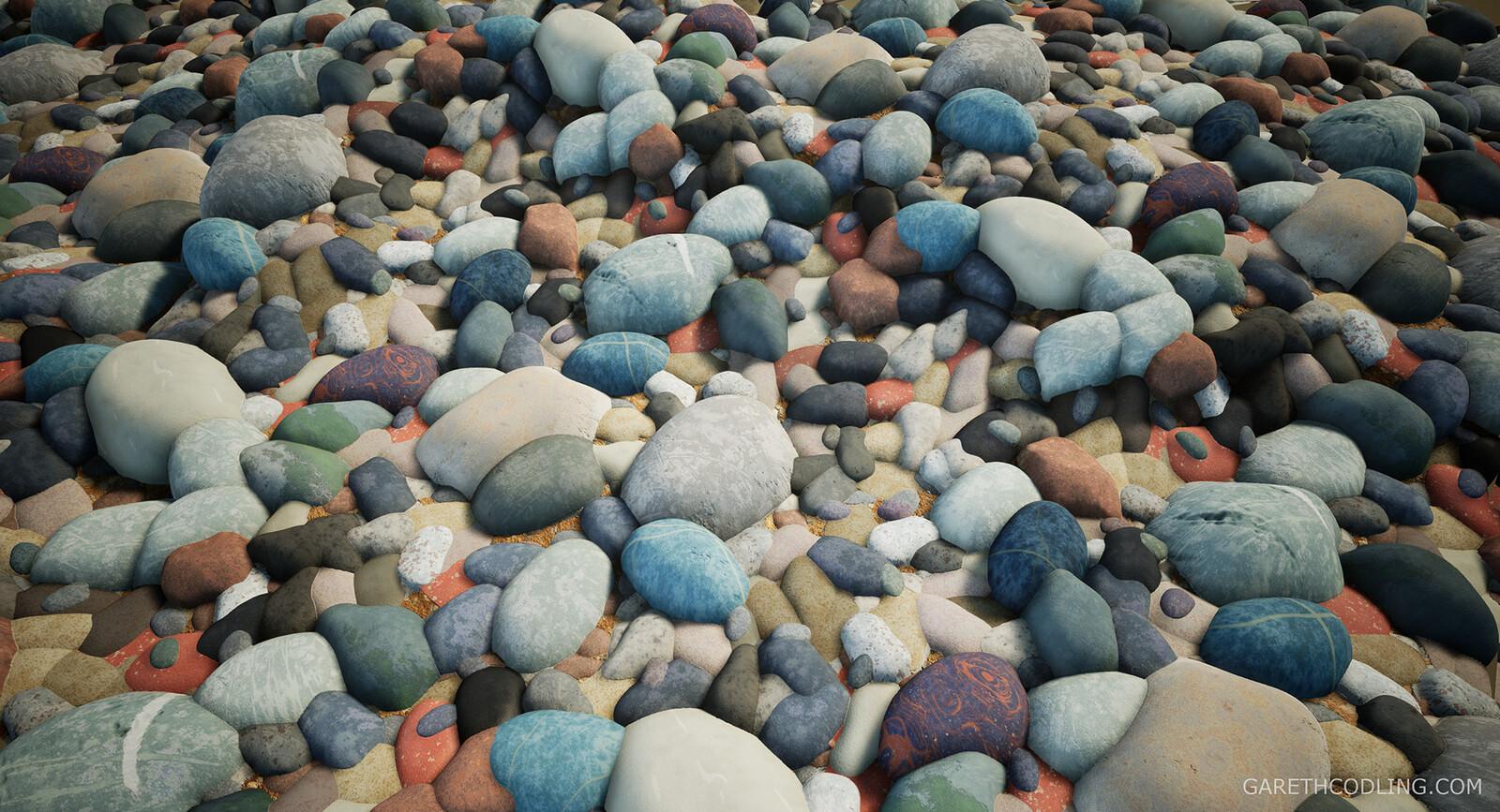River Pebbles Flat Terrain