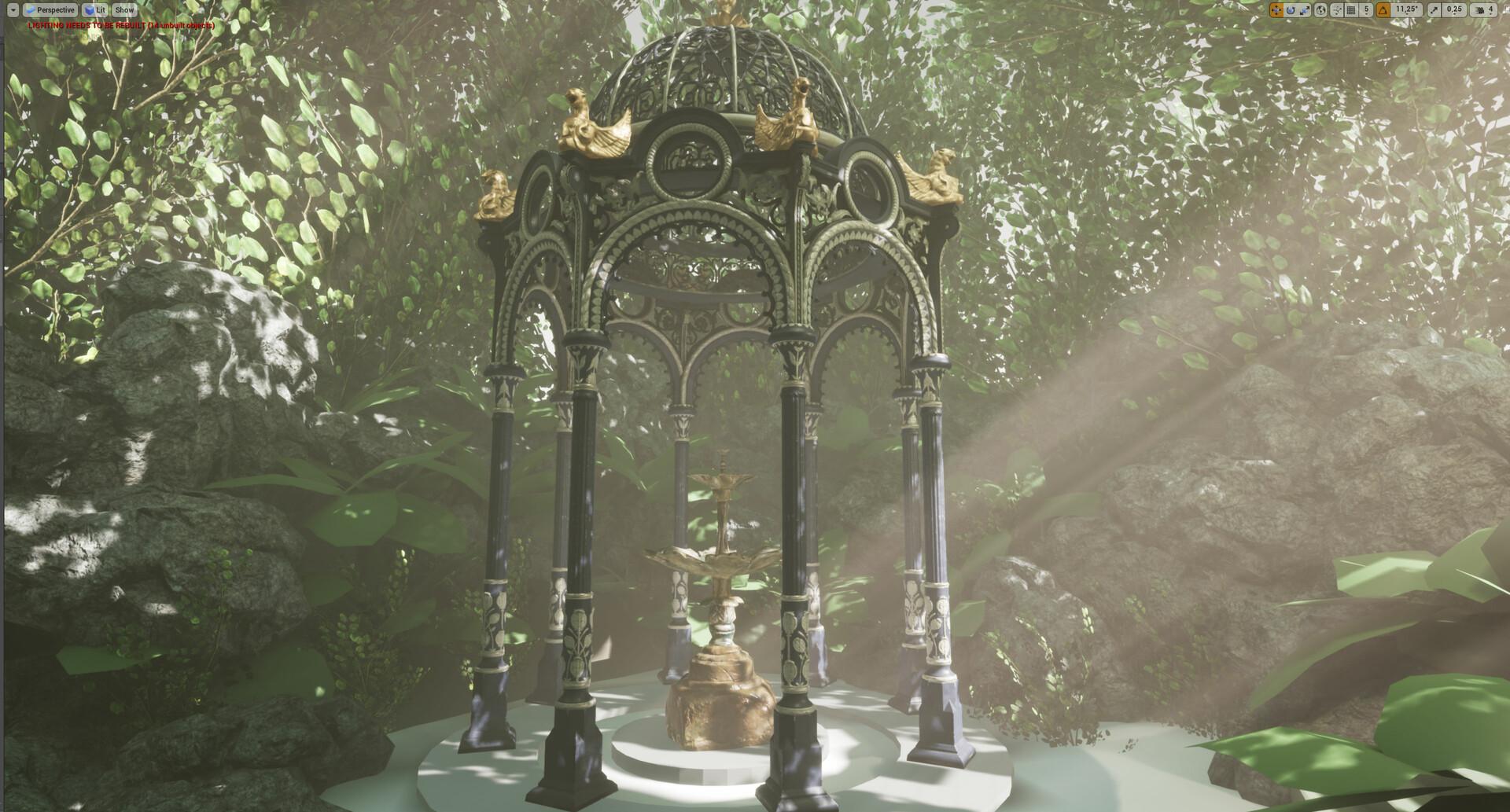 ArtStation - Victorian Gazebo Jungle Scene [UE4], Lars Pfeffer