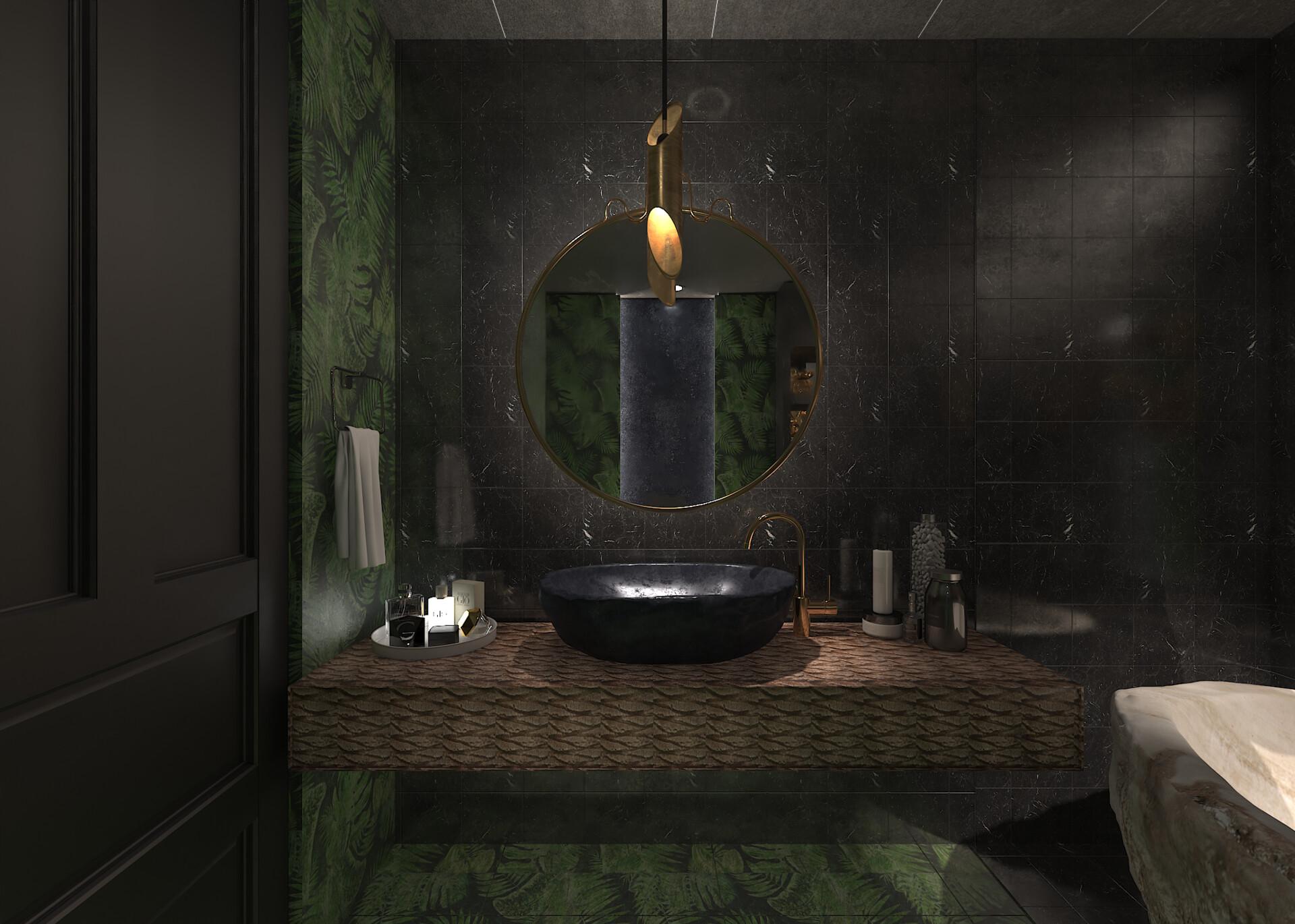 ArtStation - bathroom design palm, lasha jvaridze on dy design, l.a. design, setzer design, er design, color design, dj design, blue sky design, pi design, ns design, berserk design,