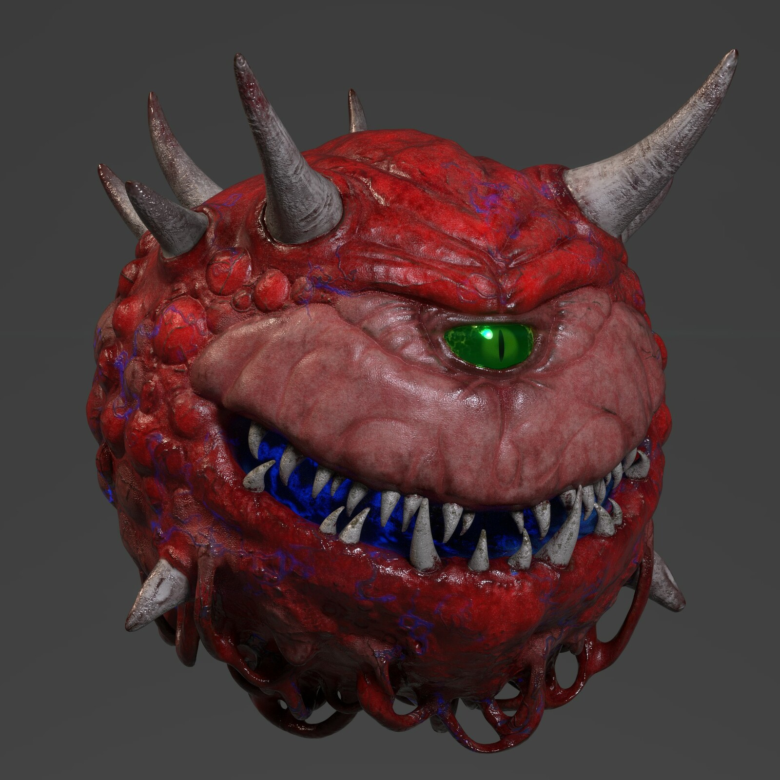 Cacodemon: quick zbrush/substance sketch during downtime.