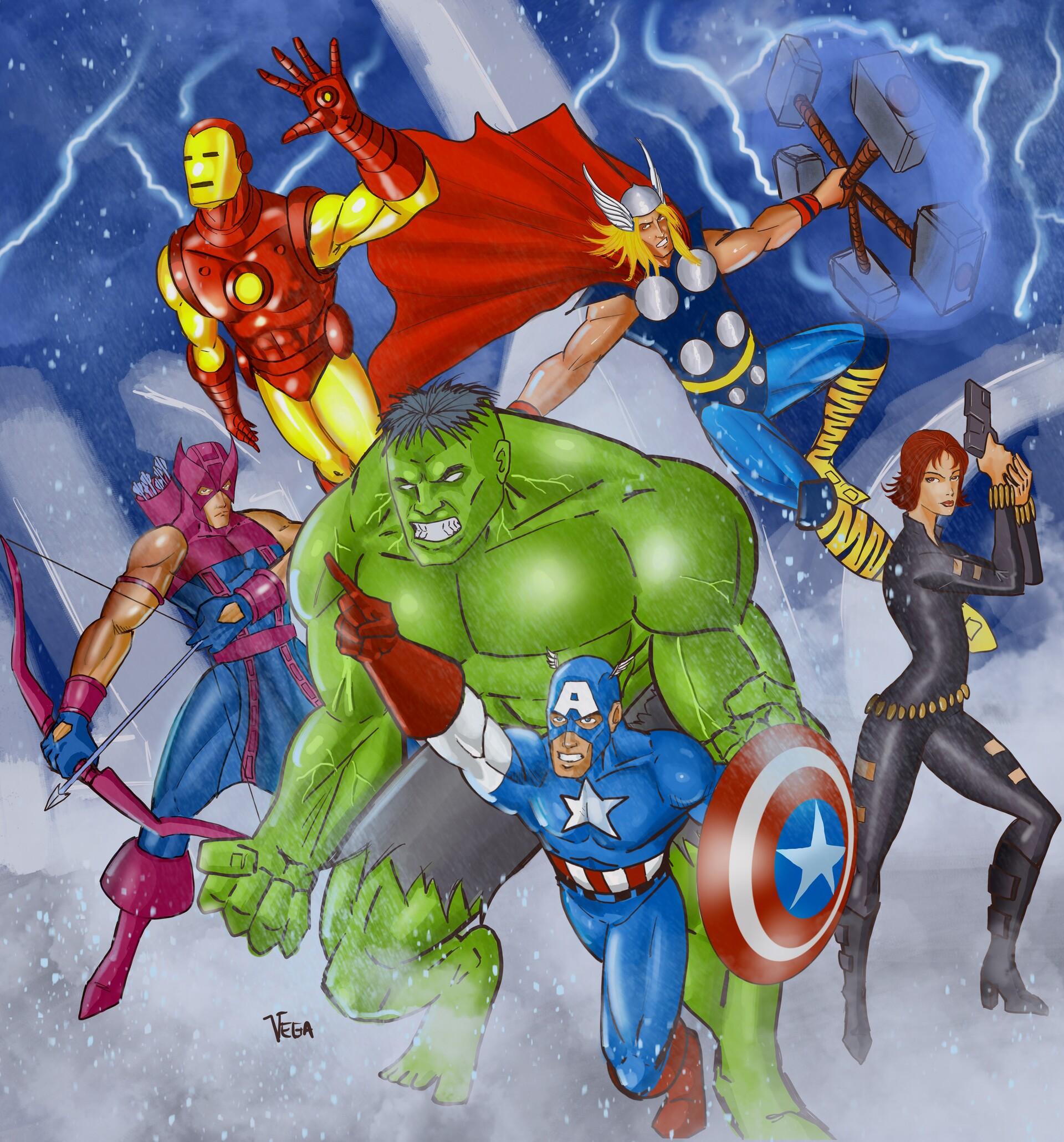 Gregorio Vega Classic Avengers Fan Art