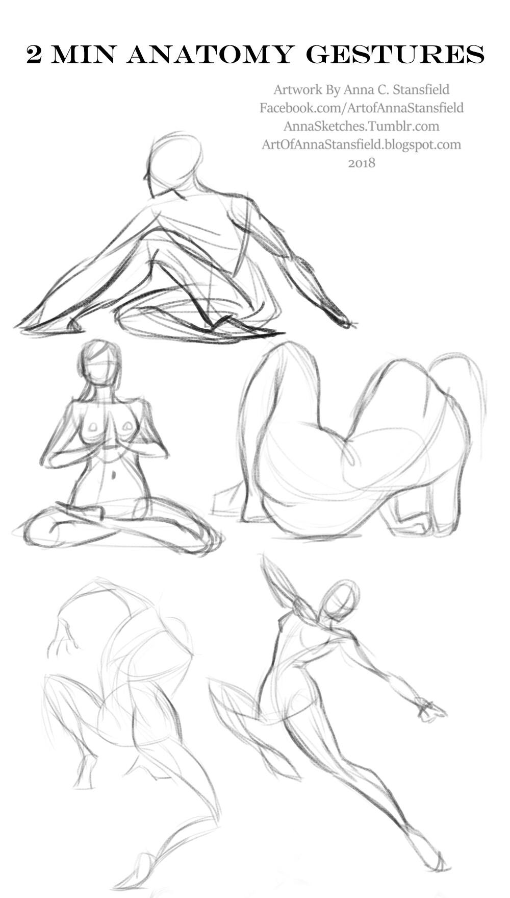 Drawing body gestures Proko