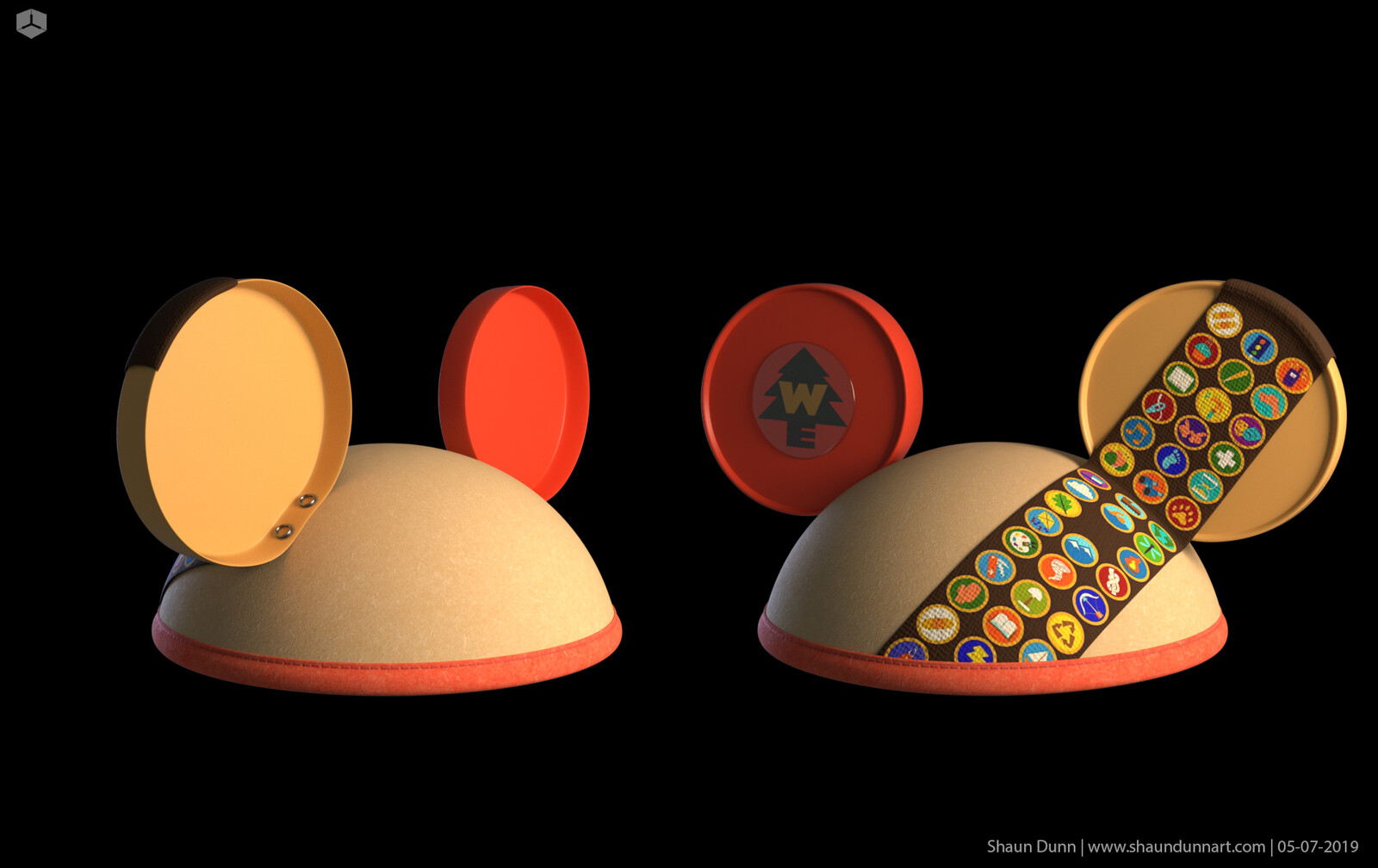 "3D modeled ""UP"" themed Mickey ears!"