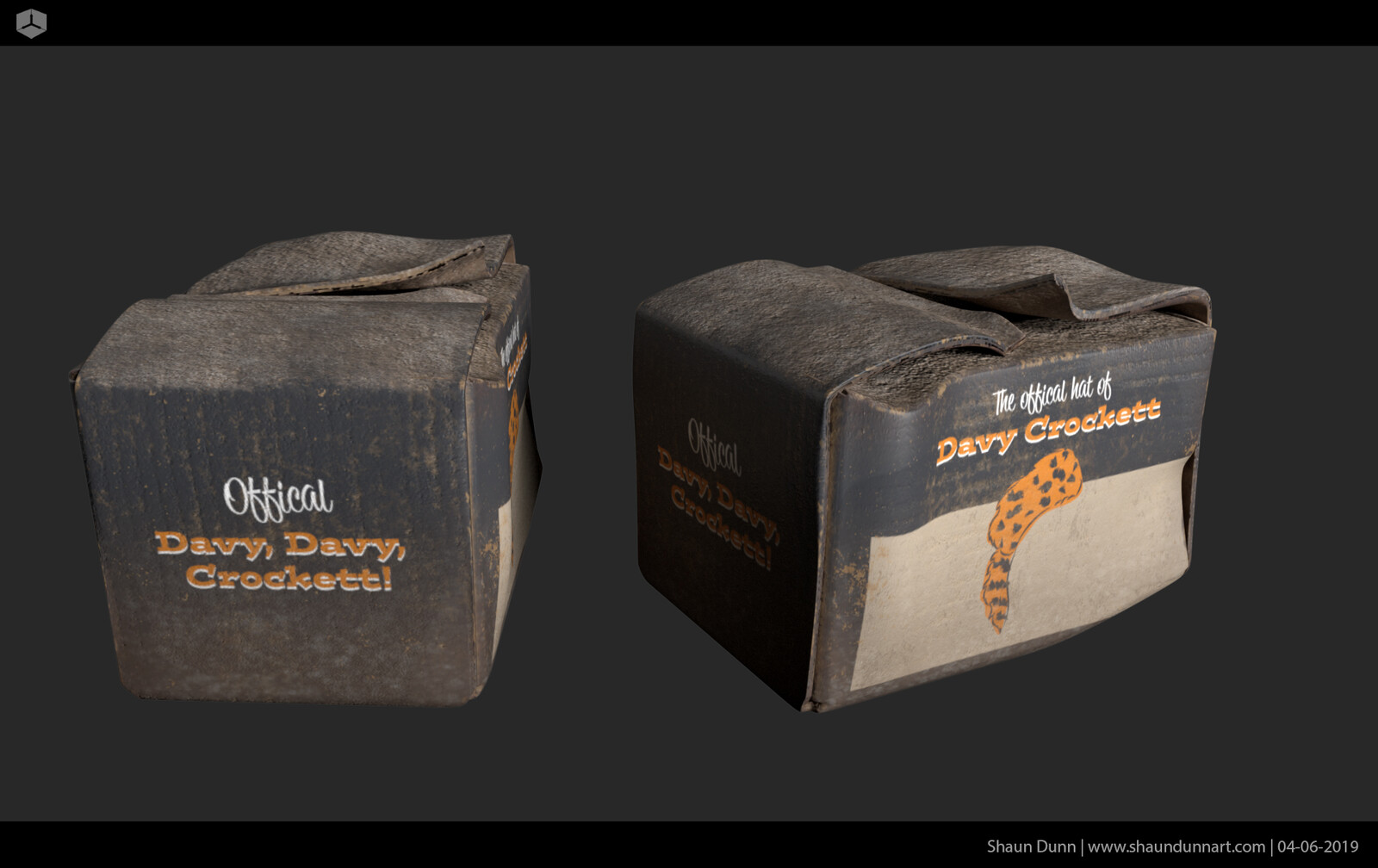 This 1950's inspired box that I designed was another Disney nod to the adventurous Davy Crockett.