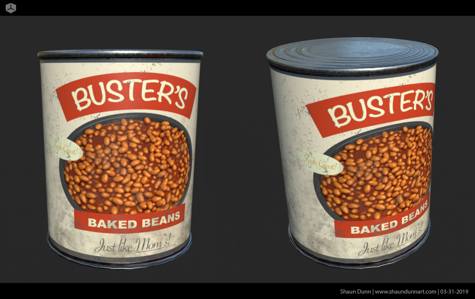 These baked beans were for another canned goods label that went on a shelf in the scene.