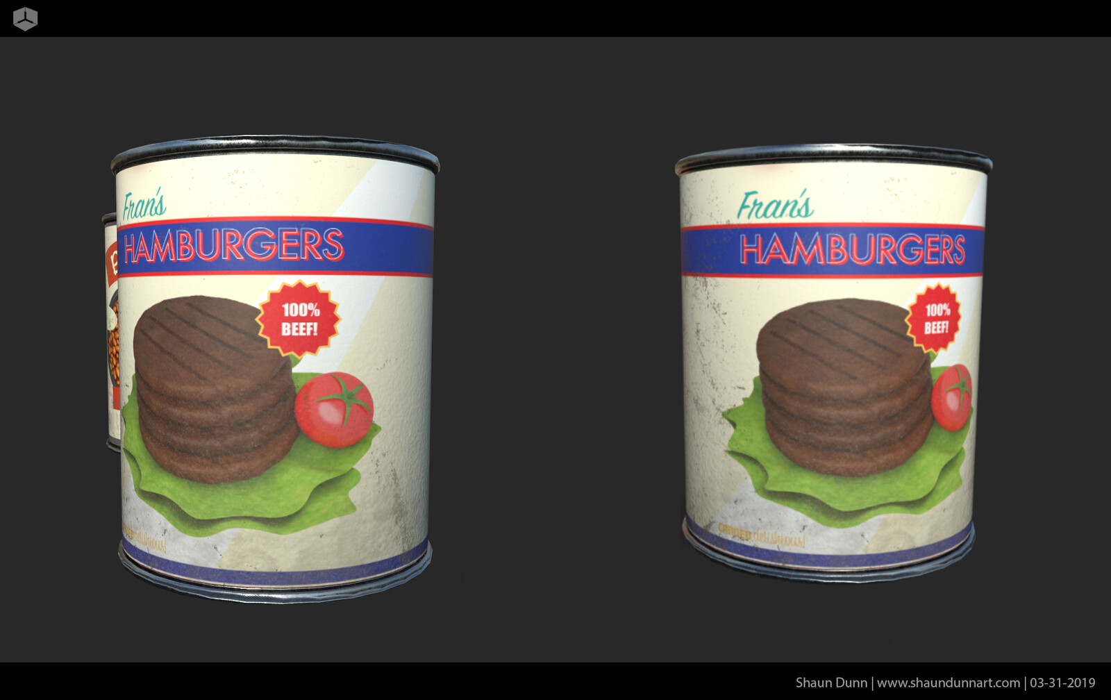 Fran's Hamburgers. Graphic work created in Maya and Adobe Illustrator.