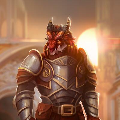 Noble Dragonborn Paladin Alizarin