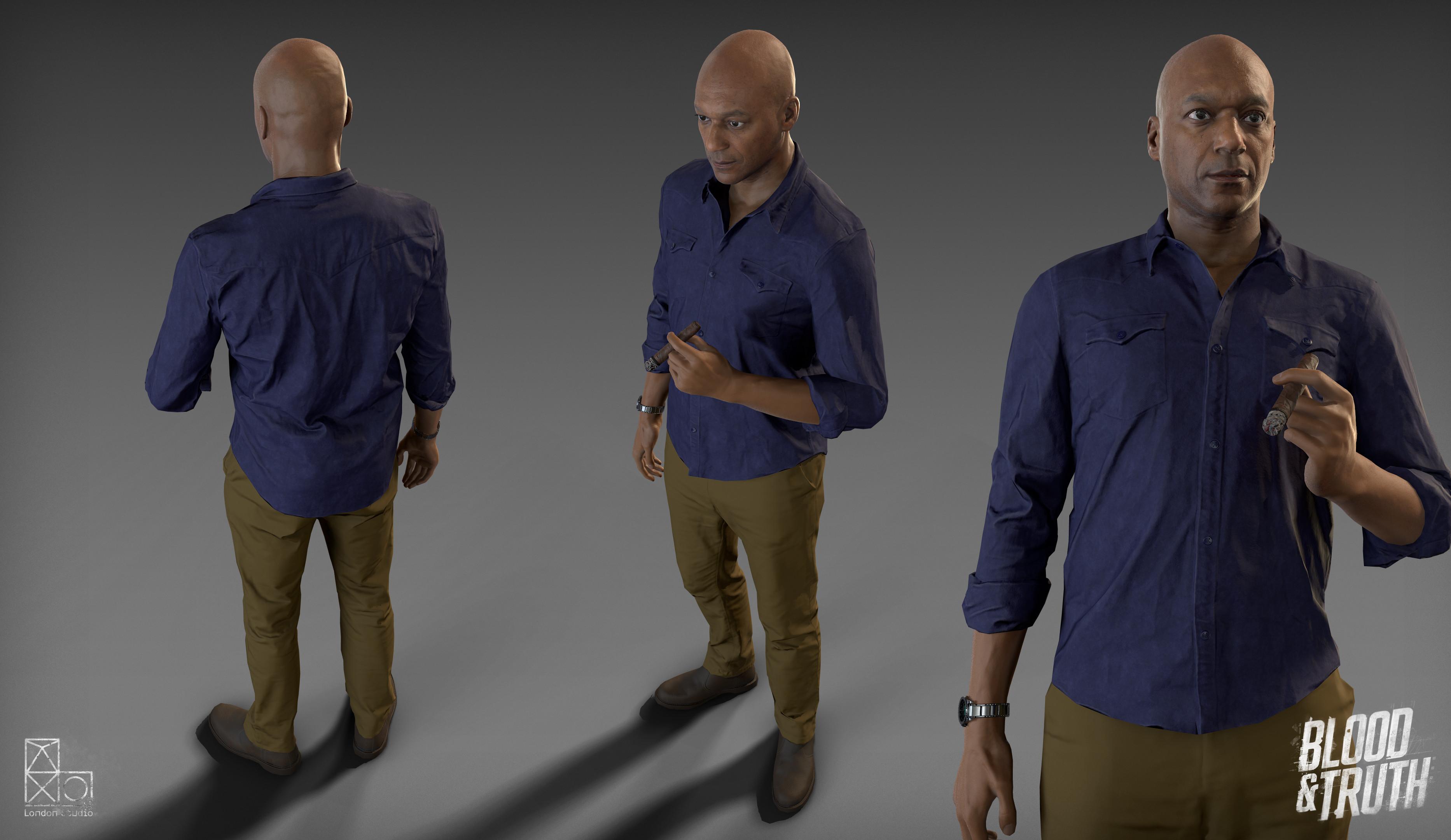 In game Carson model.