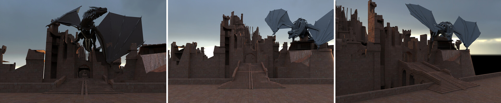 Early renders of the Red Keep gate model