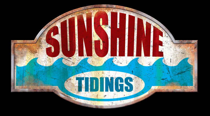 Sunshine Tidings Custom Sign Texture