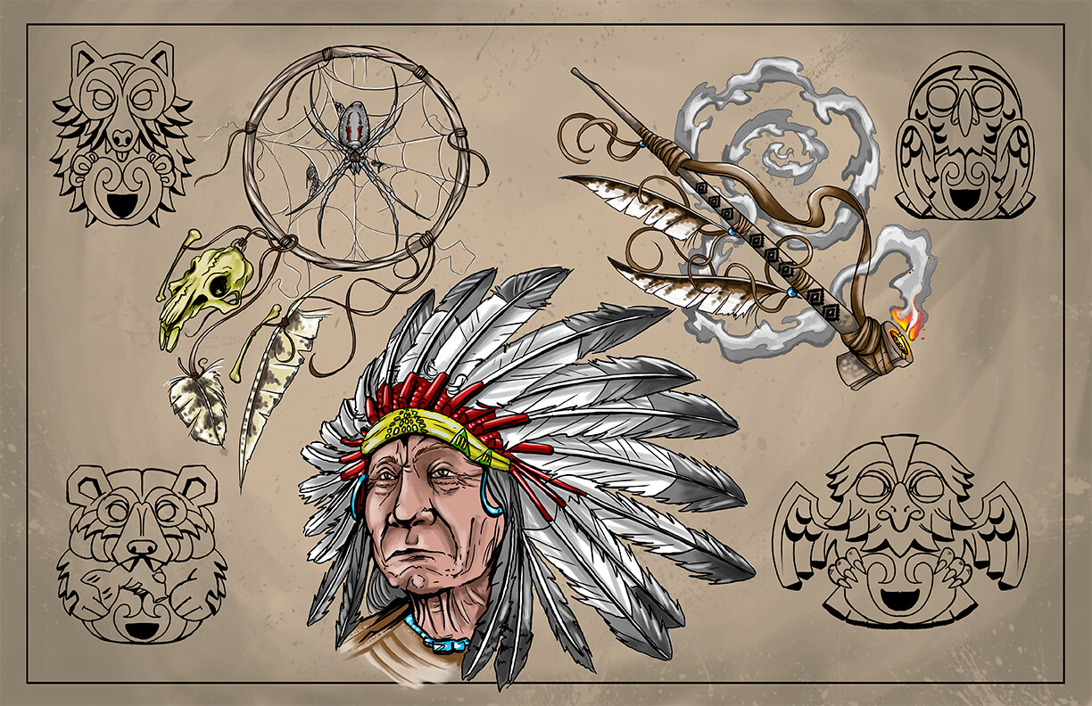 Art Sheet Native American