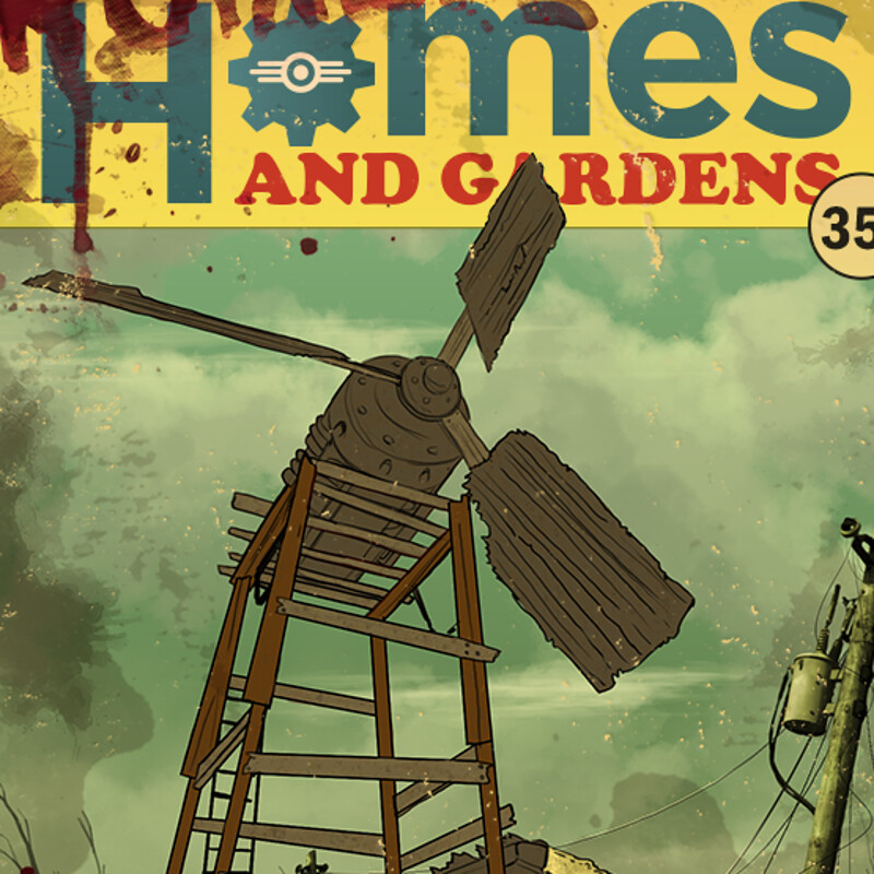 Ruined homes and gardens update poster.