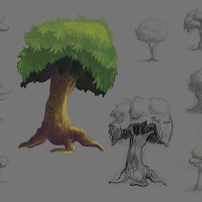 Yana chechunina trees game asset