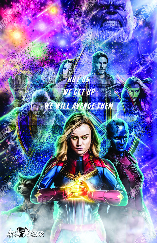 Captain Marvel, Rocket, Nebula (endgame Set)