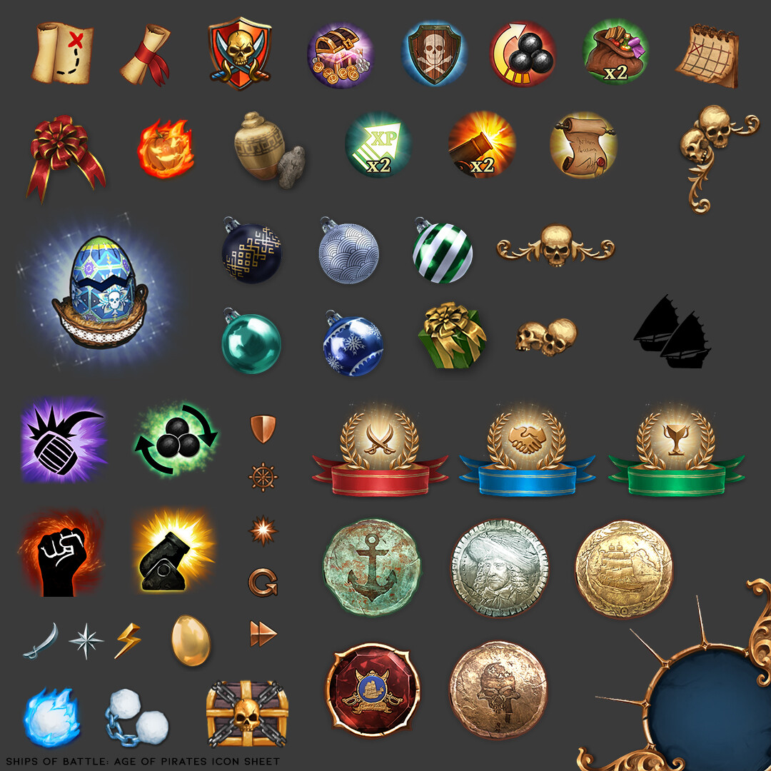 Other Icons and UI elements I made for the original game.