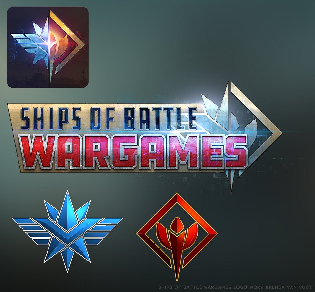 Launch icon, title logo and faction logos I designed.