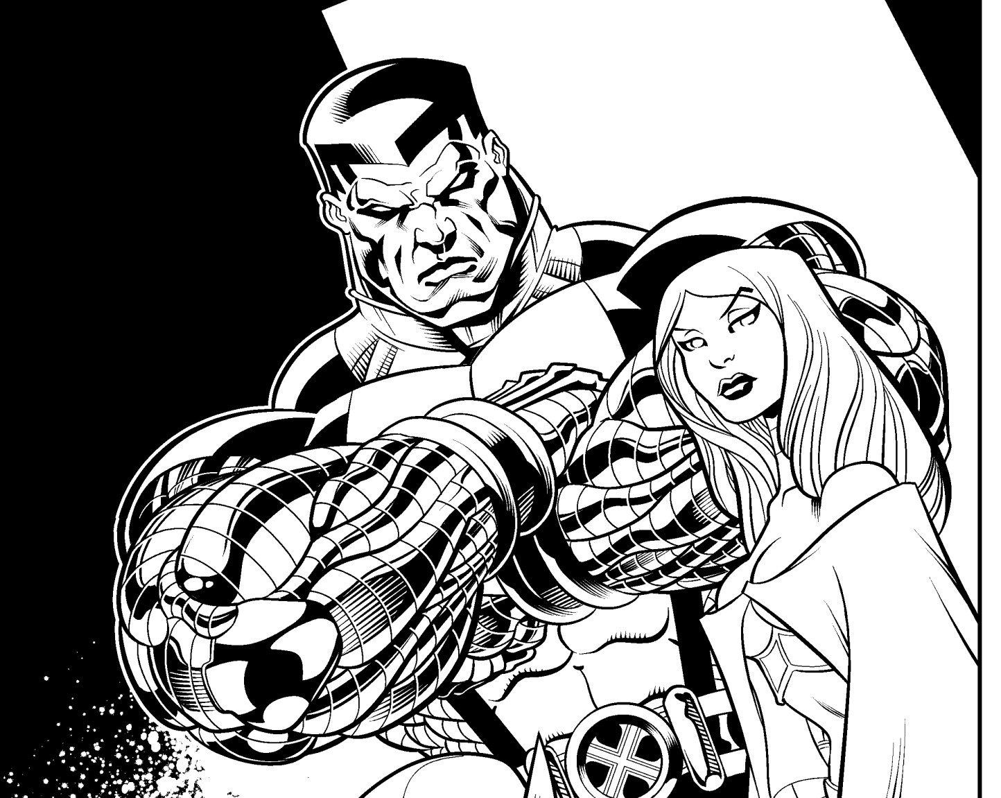 Tom martin mcguinness wolverine emma frost colossus detail