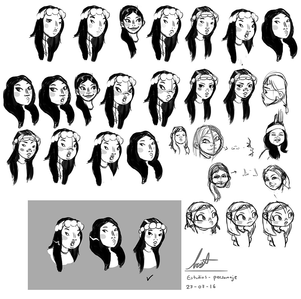 Early Designs of Inti's Face