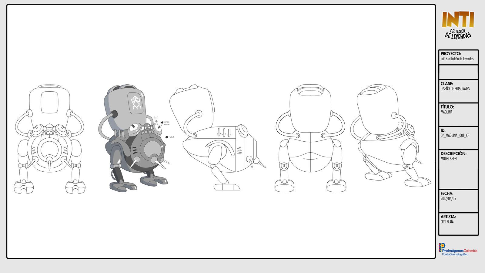 Chutun's Machine  - Character Design / Turn Around