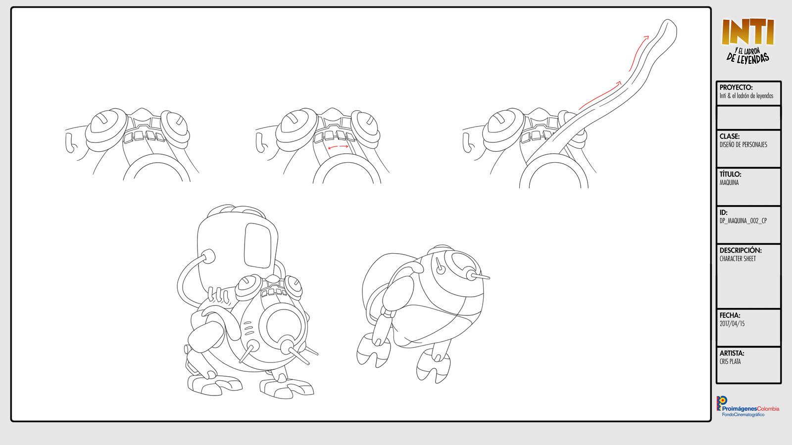 Chutun's Machine - Character Design /  Character Sheet