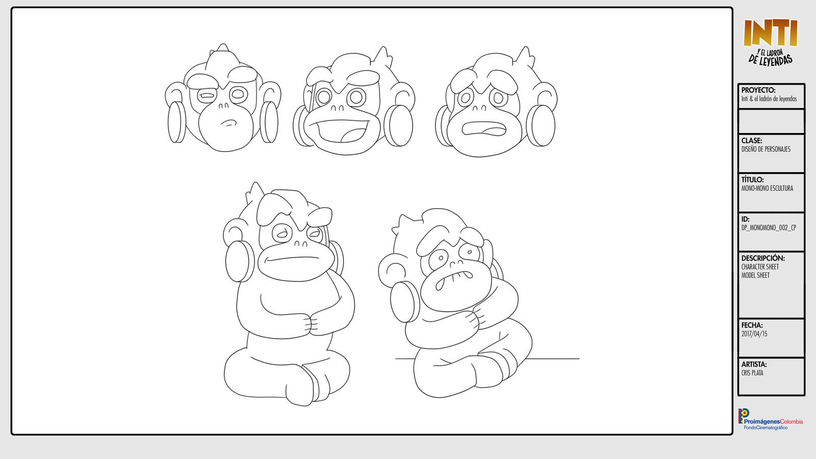 Mono Mono (statue) - Character Design /  Character Sheet