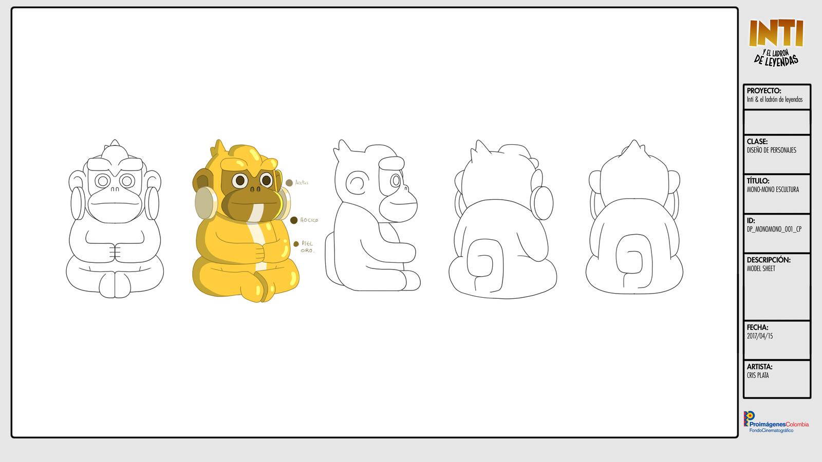 Mono Mono (statue)  - Character Design / Turn Around