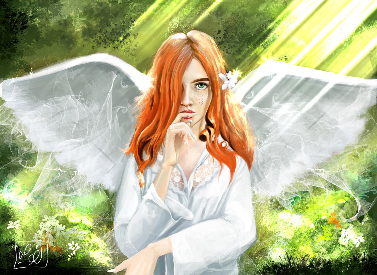 read head angel