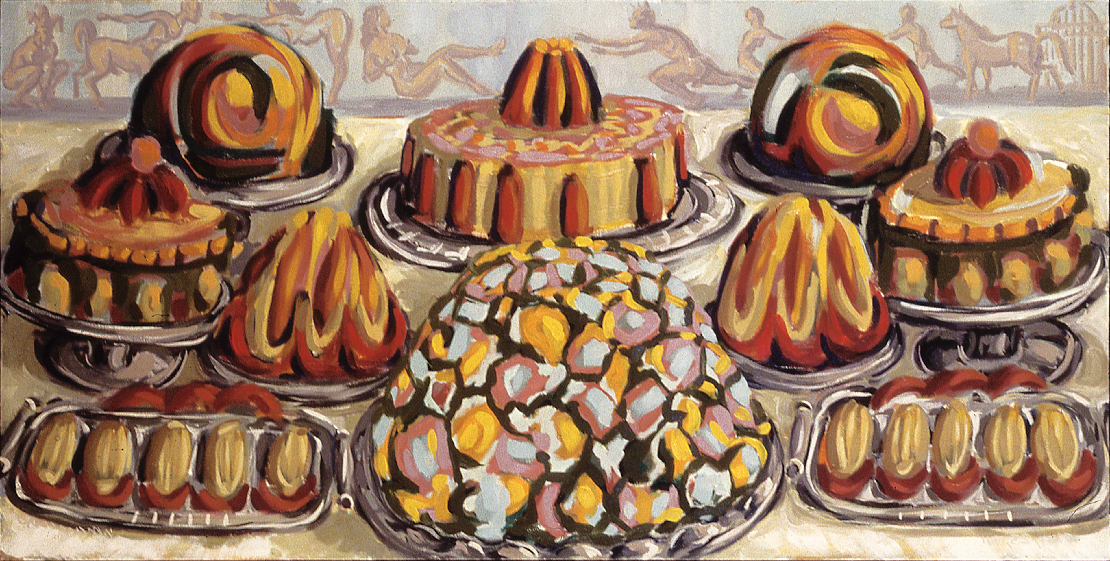 DESERT TABLE, painted by Vince Mancuso in 1992, oil on canvas, 6x3 feet, private collections.