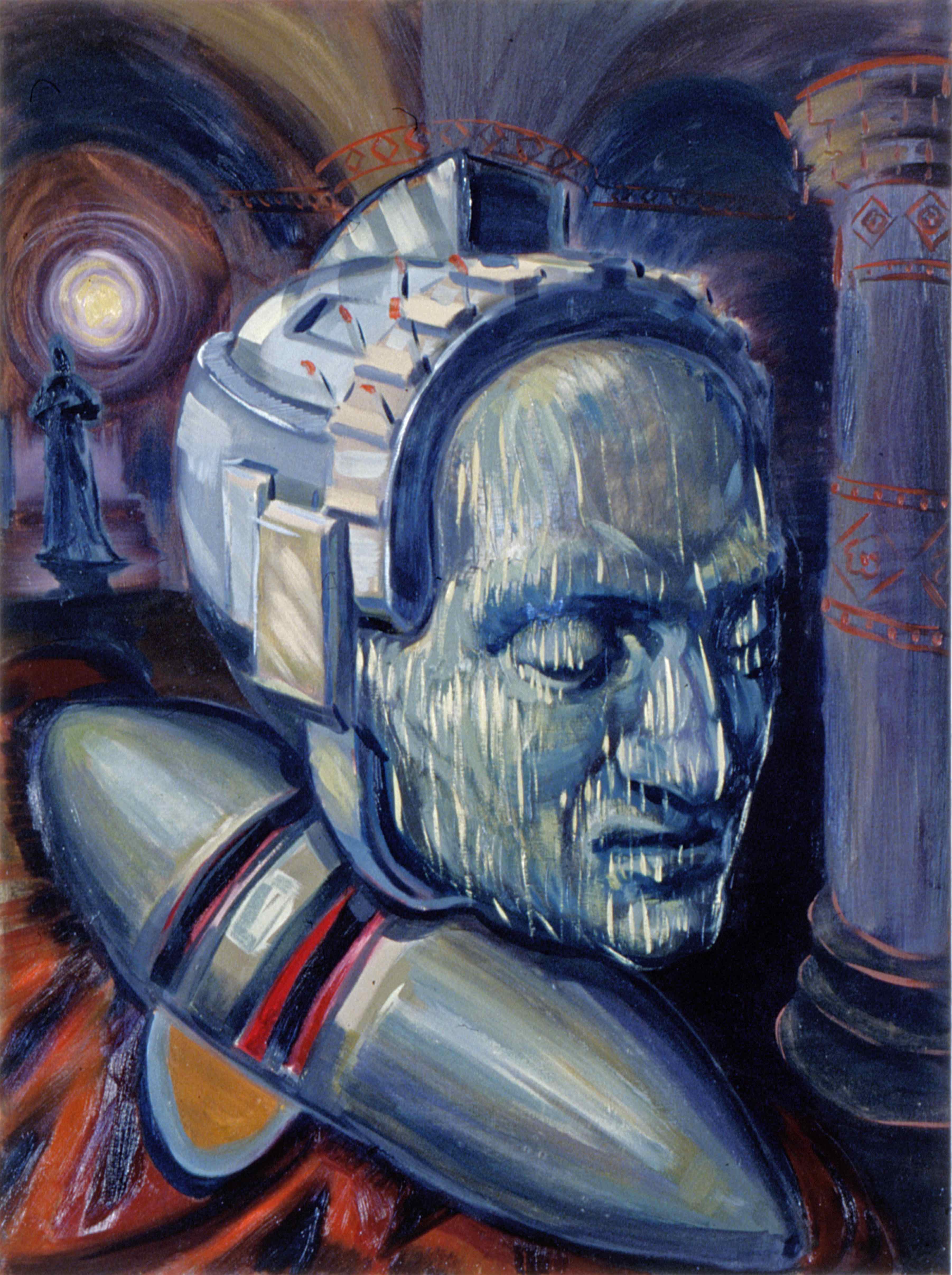 ROBO SAINT, painted by Vince Mancuso in 1992, oil on canvas, 3x4 feet. Private collection