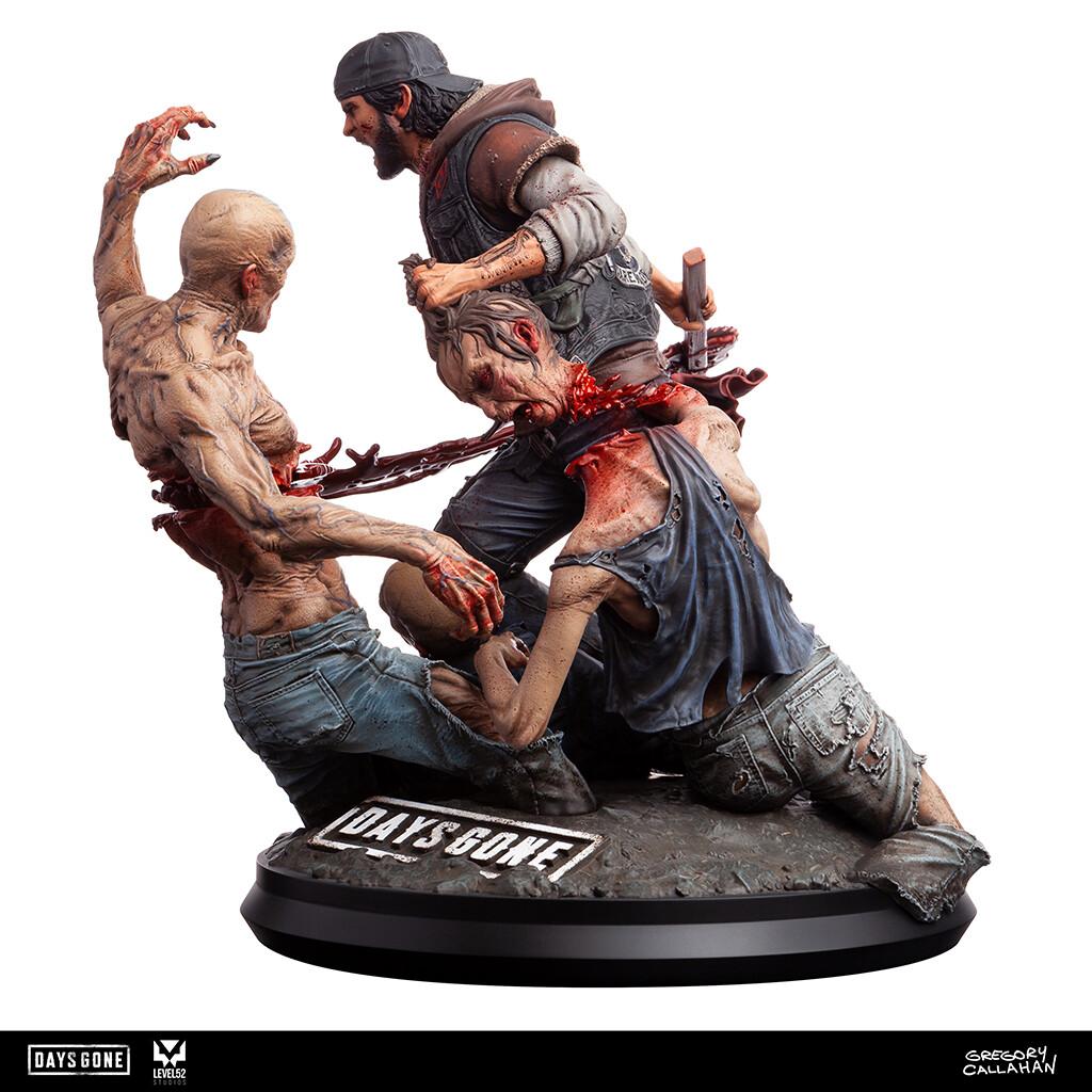 Days Gone : Deacon vs Freakers statue