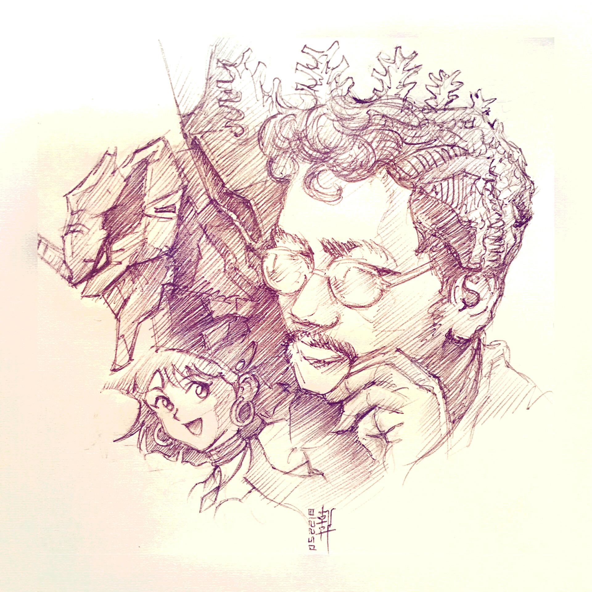 Anno Hideaki - Sketch
