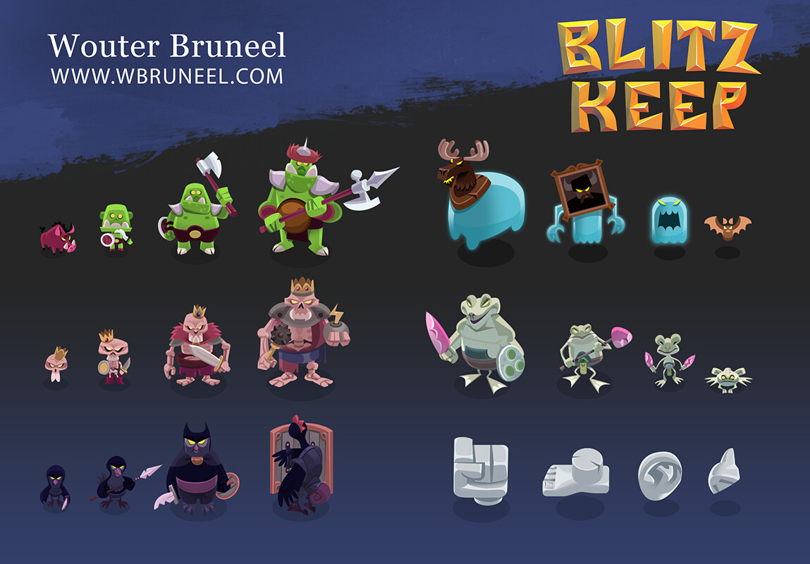 Game Art for Indie Game Blitzkeep.