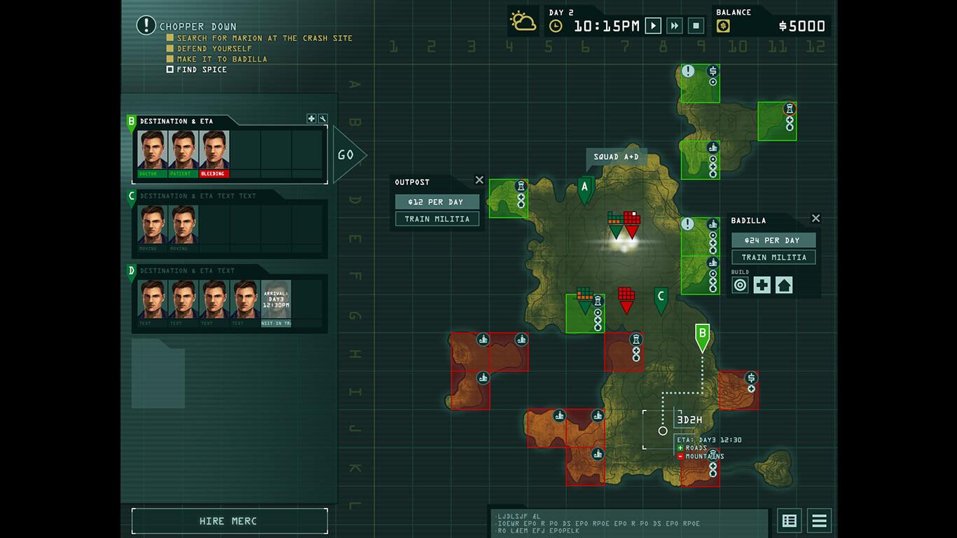 Game UI: Strategic map concept