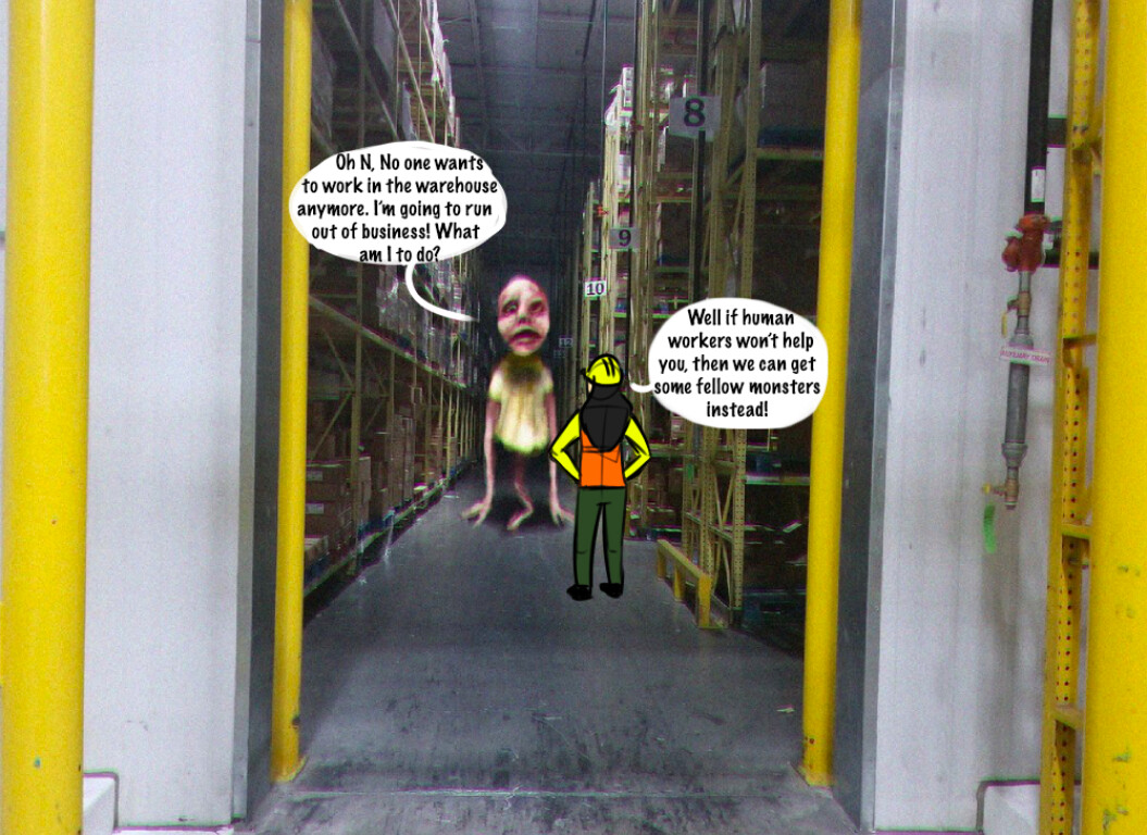 No one wants to work in the warehouse anymore, or at least while he is around. Problem is he owns the warehouse!  He called me over to help come up with some solutions to keep his warehouse running.