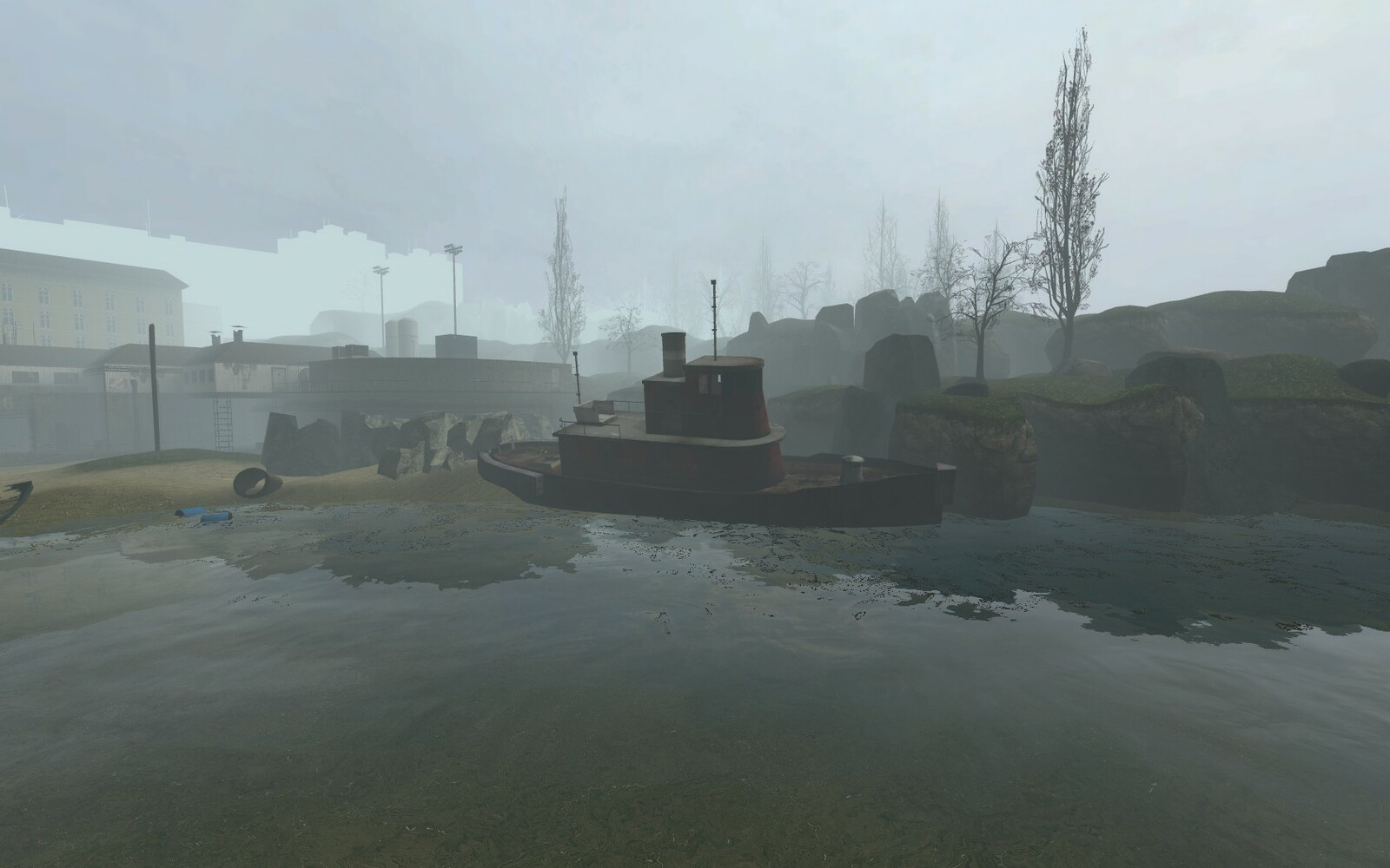 The fog at the beginning of the mod is used to create an uncertain and mysterious  atmosphere.