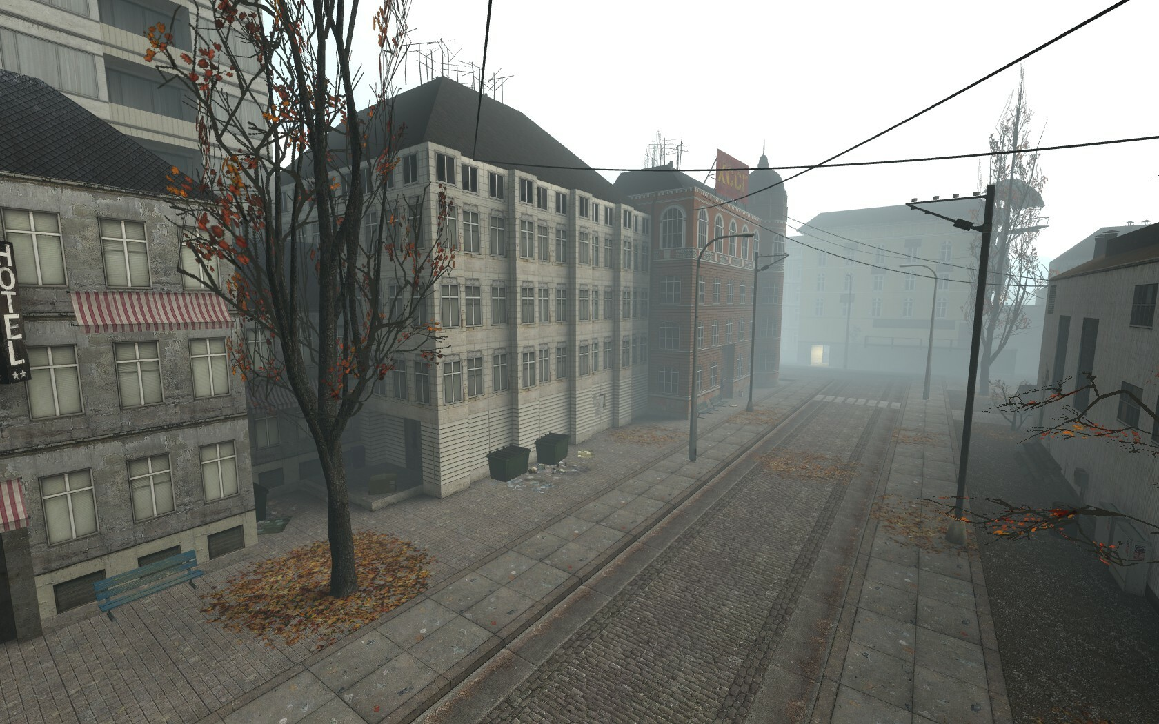 Again, the fog is used to make the environment much more interesting and create an atmosphere of mystery.