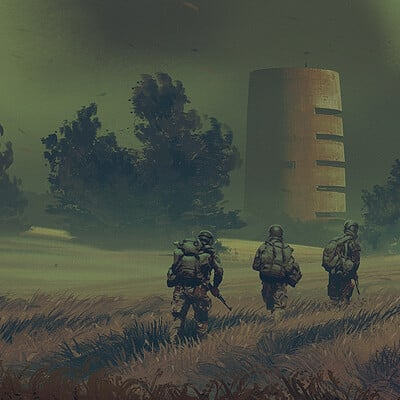Travis lacey travis lacey bunkers maysketchaday 2019 military concept art web